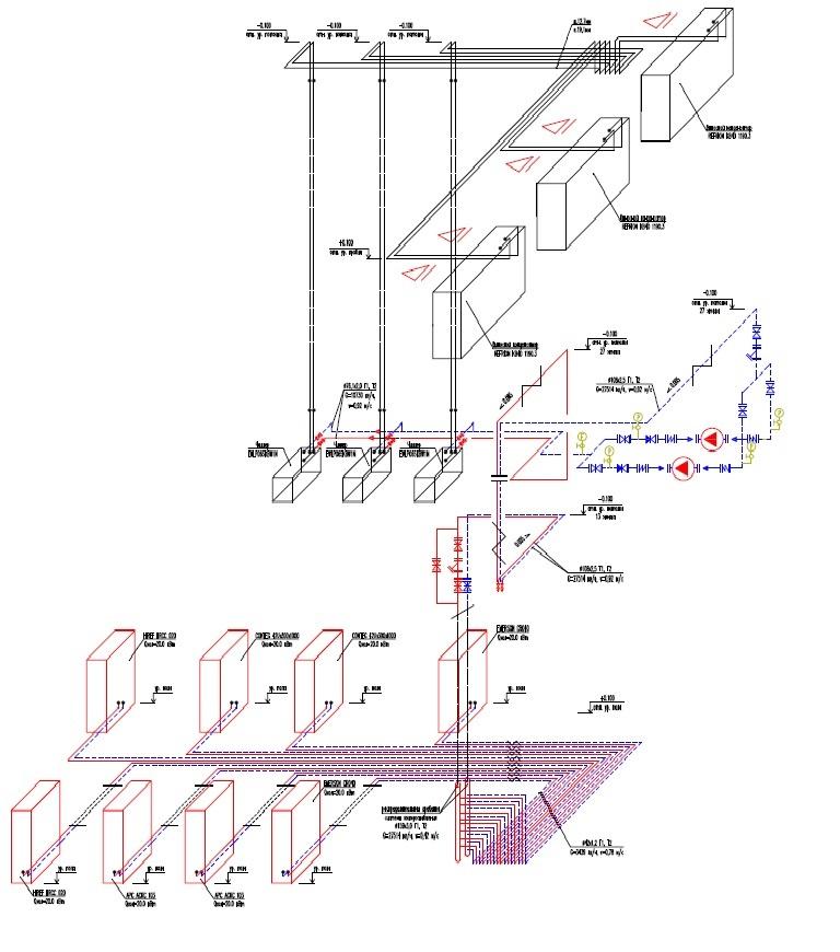 схема холодоснабжения, чиллеры внутренней установки, выносные конденсаторы, цод, прецизионные кондиционеры, APC, ибп