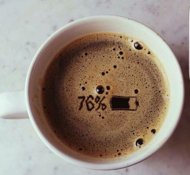 кофе заряжает, заряд от кофе